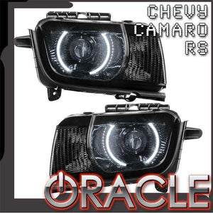 2010-2013 Chevrolet Camaro RS LED Pre-Assembled Halo Headlights (Projector/HID) by Oracle™
