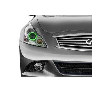 2010-2013 Infiniti G37 Sedan Profile Prism (formerly ColorMorph) Halo Headlight Kits by LED Concepts™