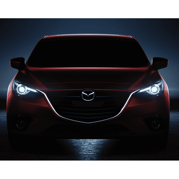 2010-2013 Mazda 3 ColorSHIFT LED Pre-Assembled Oracle™ Halo Headlights