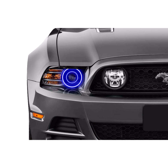 2010-2014 Ford Mustang Projector Style Profile Prism (formerly ColorMorph) Halo Headlight Kits by LED Concepts™