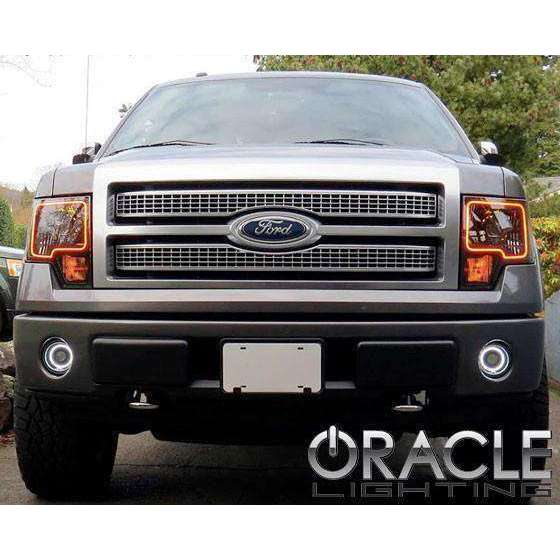2011-2013 Ford F-150 ColorSHIFT LED Pre-Assembled Halo Fog Lights by Oracle™