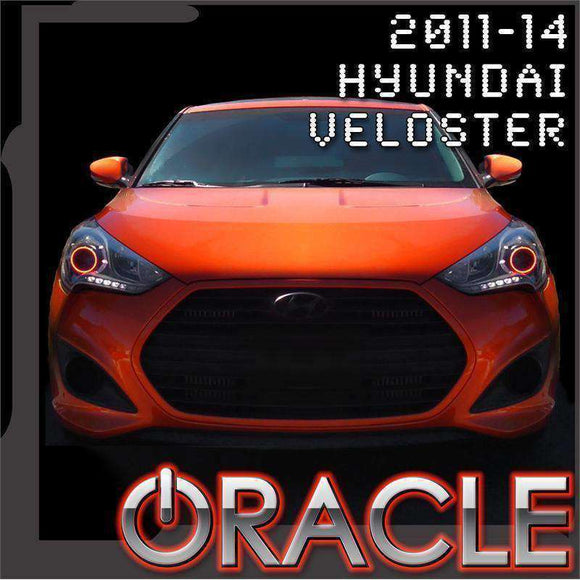 2011-2014 Hyundai Veloster LED Headlight Halo Kit by Oracle™