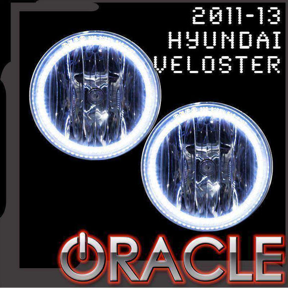 2011-2013 Hyundai Veloster Plasma Fog Light Halo Kit by Oracle™