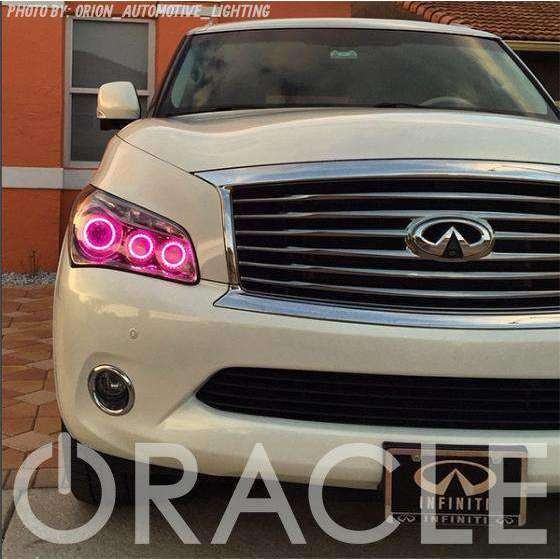 2011-2013 Infiniti QX56 ColorSHIFT LED Headlight Halo Kit by Oracle™