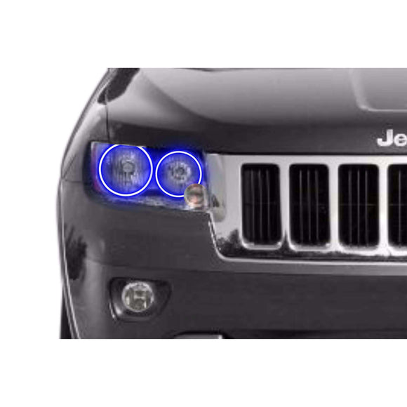 2011-2013 Jeep Grand Cherokee Profile Prism (formerly ColorMorph) Halo Headlight Kits by LED Concepts™