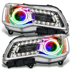 2011-2014 Chrysler 300C Non-HID ColorSHIFT LED Pre-Assembled Oracle™ Halo Headlights - Chrome Housing