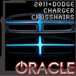 2011-2014 Dodge Charger Illuminated Grill Crosshairs by Oracle™