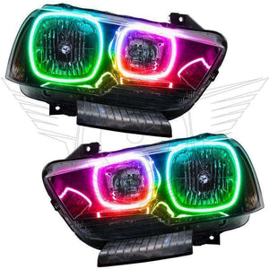 2011-2014 Dodge Charger Non-HID ColorSHIFT LED Pre-Assembled Oracle™ Halo Headlights