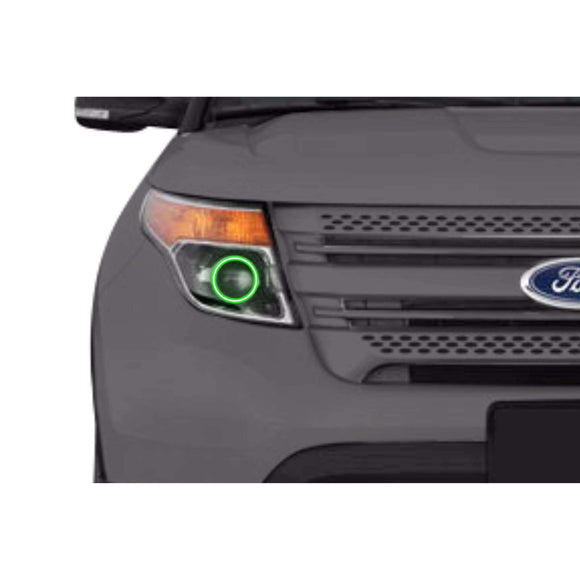 2011-2015 Ford Explorer Profile Prism (formerly ColorMorph) Halo Headlight Kits by LED Concepts™
