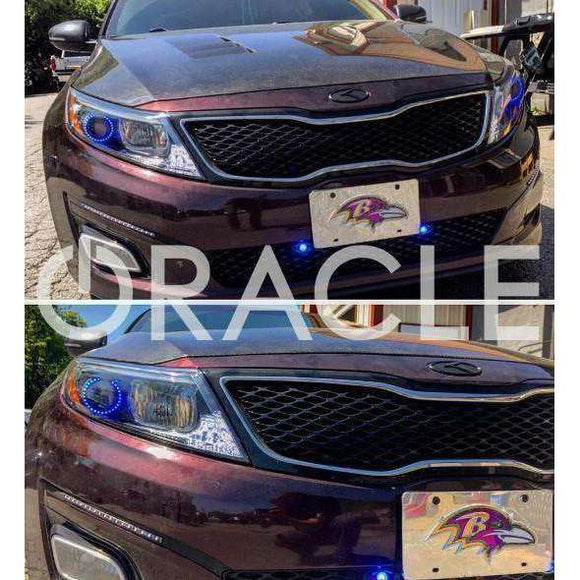 2011-2015 Kia Optima ColorSHIFT LED Headlight Halo Kit by Oracle™