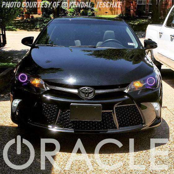 2011-2015 Toyota Camry XV50 ColorSHIFT LED Headlight Halo Kit by Oracle™