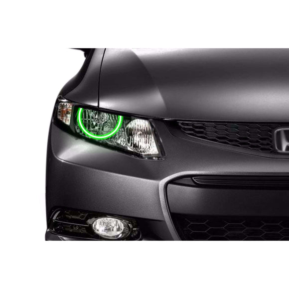 2012-2013 Honda Civic Coupe Profile Prism (formerly ColorMorph) Halo Headlight Kits by LED Concepts™