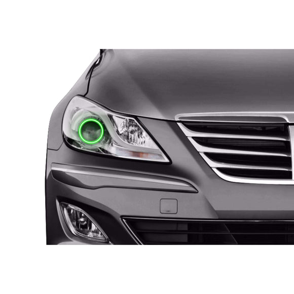 2012-2014 Hyundai Genesis Sedan Profile Prism (formerly ColorMorph) Halo Headlight Kits by LED Concepts™