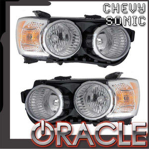 2012-2015 Chevrolet Sonic LED Pre-Assembled Oracle™ Halo Headlights