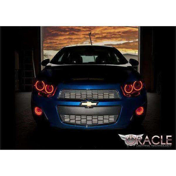 2012-2016 Chevrolet Sonic ColorSHIFT LED Headlight Halo Kit by Oracle™