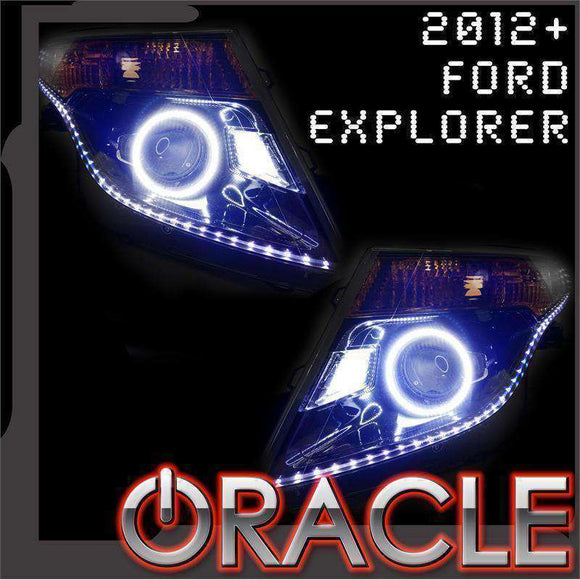 2012-2015 Ford Explorer LED Headlight Halo Kit by Oracle™