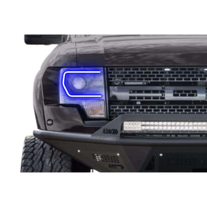 2013-2014 Ford F-150 (w/ OEM HID) Profile Prism (formerly ColorMorph) Halo Headlight Kits by LED Concepts™
