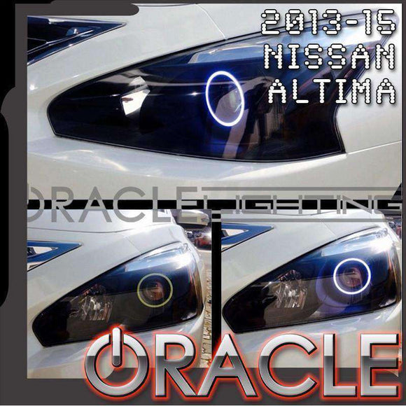2013-2015 Nissan Altima Sedan (5th Gen) ColorSHIFT LED Headlight Halo Kit by Oracle™