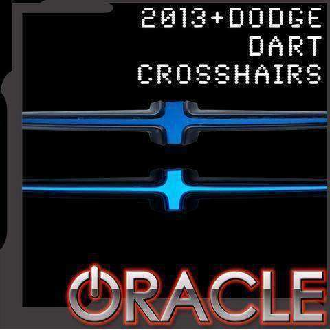 2013-2016 Dodge Dart Illuminated Grill Crosshairs by Oracle™