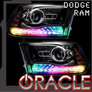 2013-2018 Dodge Ram Dynamic ColorSHIFT DRL Replacement + Turn Signals by Oracle™