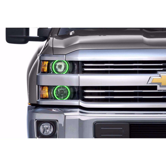 2014-2015 Chevrolet Silverado Projector Style Profile Prism (formerly ColorMorph) Halo Headlight Kits by LED Concepts™