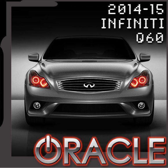 2014-2015 Infiniti Q60 LED Headlight Halo Kit by Oracle™