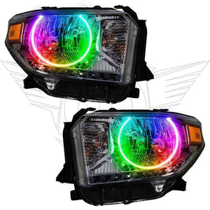2014-2017 Toyota Tundra ColorSHIFT LED Pre-Assembled Oracle™ Halo Headlights