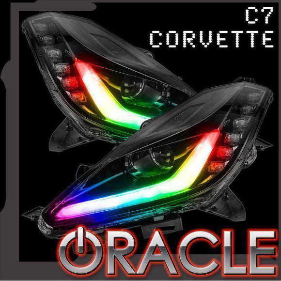 2014-2019 Chevrolet Corvette C7 Oracle™ Dynamic ColorSHIFT DRL with Switchback Turn Signals