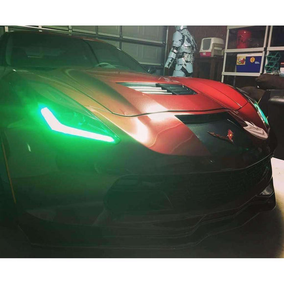 2014-2018 Chevrolet Corvette C7 Stingray ColorSHIFT LED Headlight DRL Kit by Oracle™
