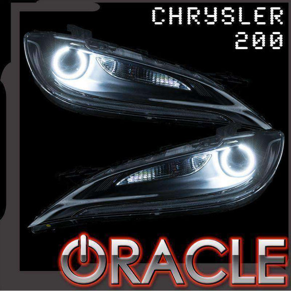 2015-2017 Chrysler 200 ColorSHIFT LED Headlight Halo Kit by Oracle™