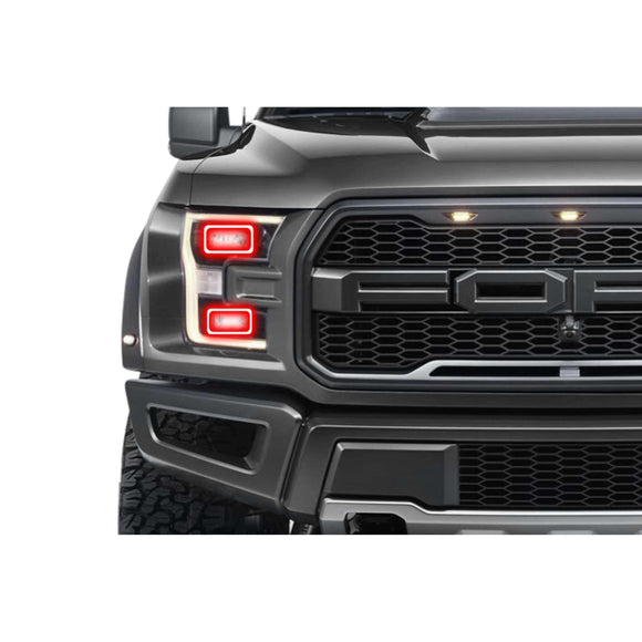 2015-2017 Ford F-150 (w/OEM LED) Profile Pixel (formerly ColorMorph) DRL Halo Headlight Boards by LED Concepts™