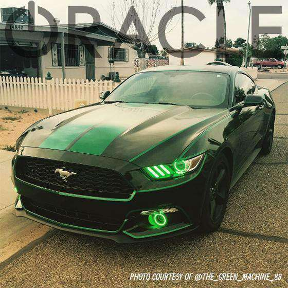 2015-2017 Ford Mustang ColorSHIFT LED Headlight Halos + Concept Strip Kit by Oracle™