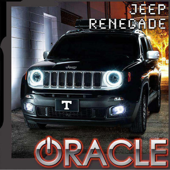 2015-2018 Jeep Renegade ColorSHIFT LED Headlight Halo Kit by Oracle™