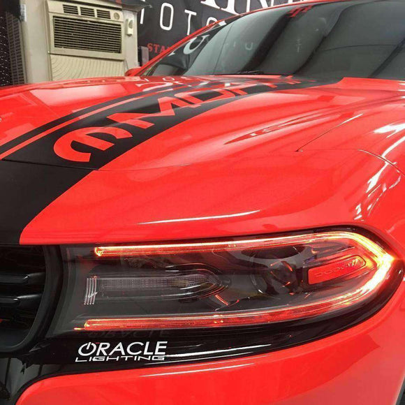 2015-2019 Dodge Charger ColorSHIFT LED Headlight DRL Conversion Kit by Oracle™