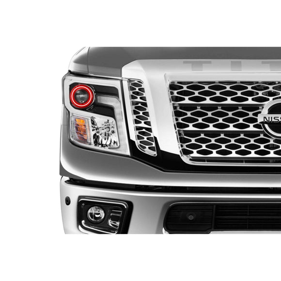 2016-2017 Nissan Titan Profile Prism (formerly ColorMorph) Halo Headlight Kits by LED Concepts™