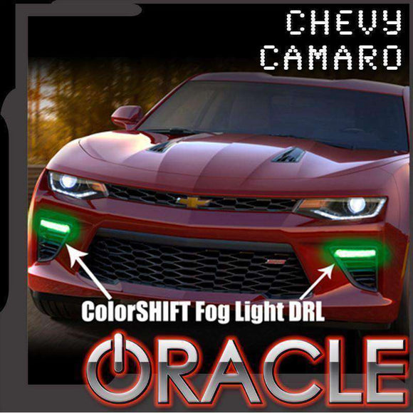 2016-2018 Chevrolet Camaro ColorSHIFT LED Fog Light Backlit DRL Kit by Oracle™