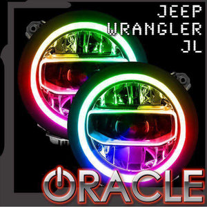 2017-2019 Jeep Wrangler JL Oracle™ ColorSHIFT RGB+W Headlight DRL Upgrade