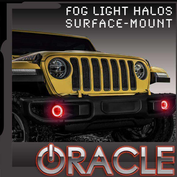 2018-2019 Jeep Wrangler JL ColorSHIFT Surface Mount LED Fog Light Halo Kit by Oracle™