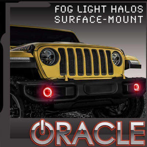 2018-2019 Jeep Wrangler JL Surface Mount LED Fog Light Halo Kit by Oracle™