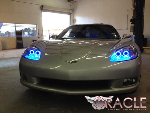 2005-2013 Chevrolet Corvette C6 Plasma Headlight Halo Kit by Oracle™
