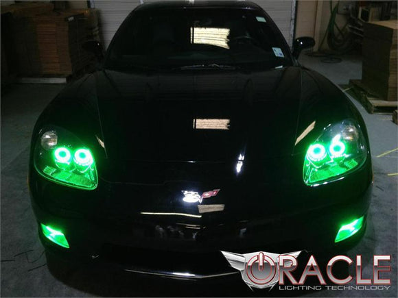 2005-2013 Chevrolet Corvette C6 ColorSHIFT LED Headlight Halo Kit by Oracle™