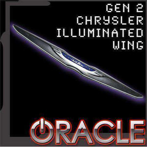 Chrysler Illuminated LED Sleek Wing Emblem by Oracle™