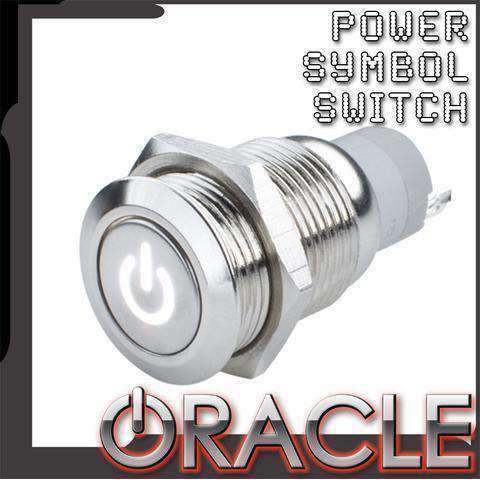LED Pre-Wired Flush Mount Power Symbol Switch by Oracle™
