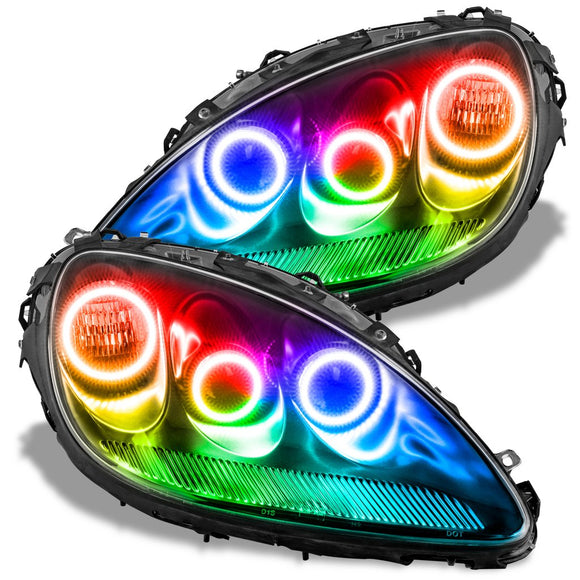 2005-2013 Chevrolet Corvette C6 ColorSHIFT LED Headlight Triple Halo Kit by Oracle™