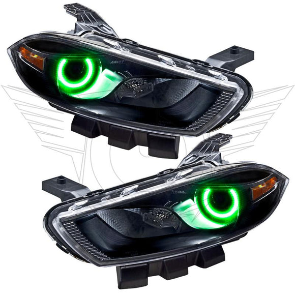 2013-2016 Dodge Dart Halogen Style LED Pre-Assembled Halo Headlights by Oracle™