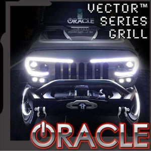 Vector™ Series Full LED Grille by Oracle™ (2007-2017 Jeep Wrangler JK)