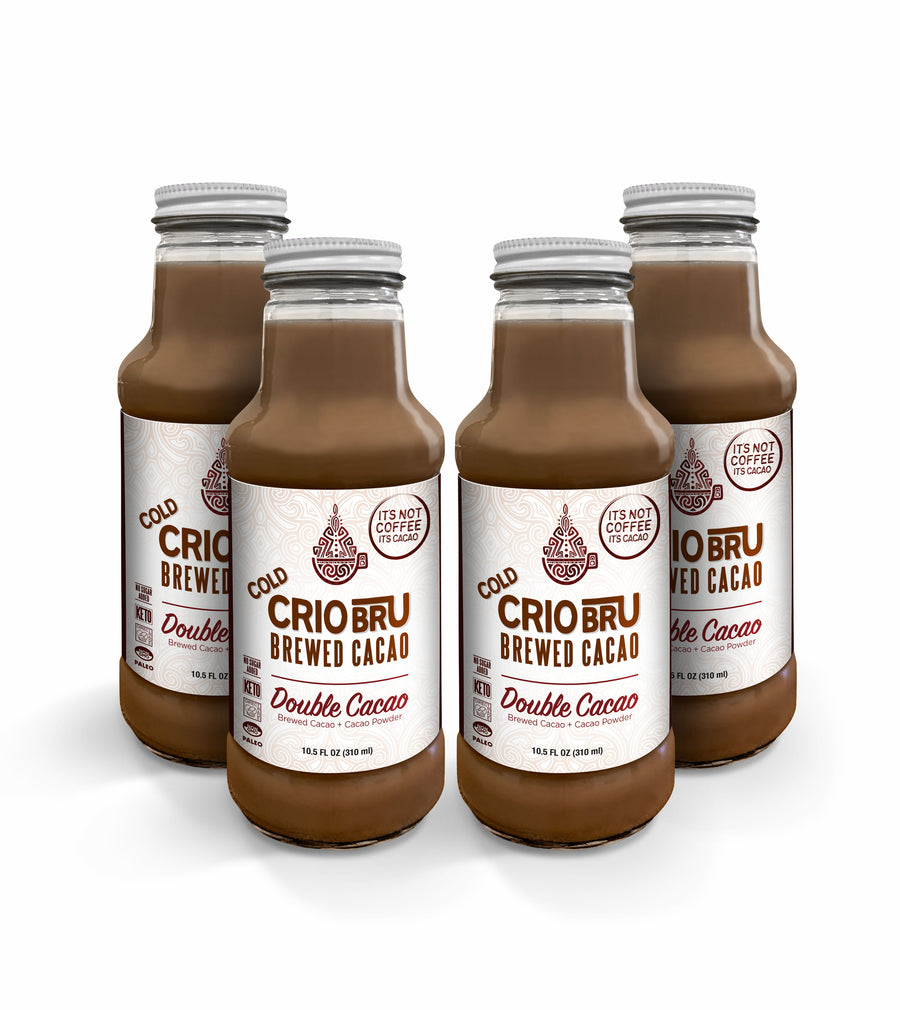 Cold Crio Bru Brewed Cacao: Double Cacao 10.5 oz (Case of 4) [NO ADDED SUGAR | INCL. DAIRY]