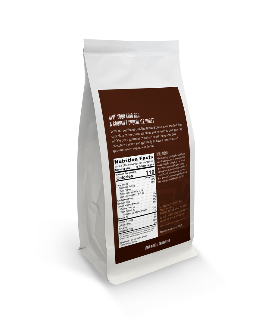 NEW! Criosa Chocolate Dark Chocolate Cacao Chips (8 oz)
