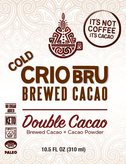 Cold Crio Bru Brewed Cacao: Double Cacao 10.5 oz (Case of 12) [NO ADDED SUGAR | INCL. DAIRY]