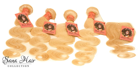 Russian Blonde Body Wave - Sana hair collection